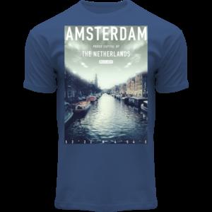 Holland fashion Amsterdam shirt denimblue- Photo plaque
