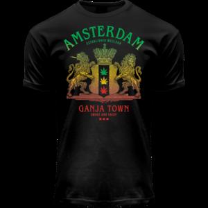 FOX Originals T-Shirt - Amsterdam Ganja Town (black/light effect)