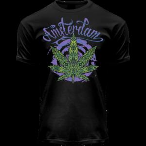 FOX Originals T-Shirt Fluor Amsterdam Weed (Schwarz / Lichteffekt)