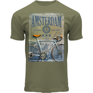 FOX Originals T-Shirt - Amsterdam Fahrradfoto - Armee