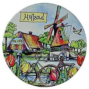 Typisch Hollands Windmühle / Fahrrad-Untersetzer