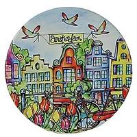 Typisch Hollands Fahrrad & Häuser Achterbahn