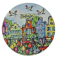 Typisch Hollands Onderzetter Fiets & Huisjes