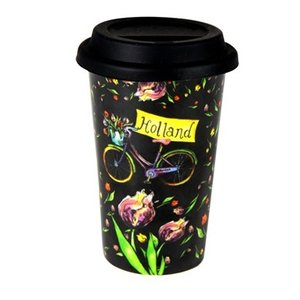 Typisch Hollands Reisekaffee - Travelmug-Tulpen