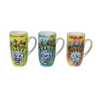 Typisch Hollands Gift set of 3 cups Tulip vase decoration