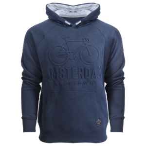 Holland fashion Hooded sweater - Amsterdam Bike Town (Embossed)