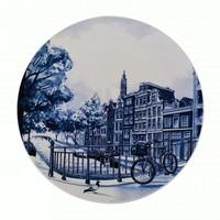 Typisch Hollands Delft blue plate canals - Amsterdam