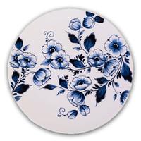 Typisch Hollands Typisch holländisch - Delfter Blau - Wandplatte - Blüte