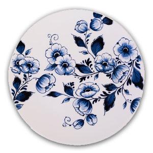 Heinen Delftware Typisch Hollands - Delfts blauw - Wandbord - Bloesem