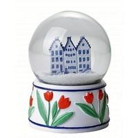 Typisch Hollands Schneekugel-Fassaden-Häuser - Delft-Blau