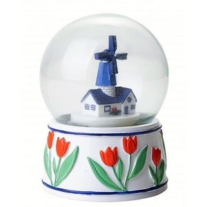 Typisch Hollands Sneeuwbol Molen - Delfts blauw