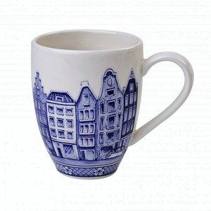 Typisch Hollands Möchten Sie einen holländischen Kaffee- oder Teebecher kaufen? Große Kaffeetasse Delft blau