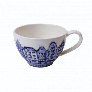 Heinen Delftware Theemok - Delfts blauw - Grachtenhuizen