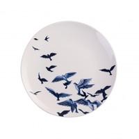Typisch Hollands Wandbord - Delfts blauwe vogels