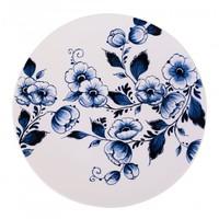 Typisch Hollands Wanbord-Blumenmuster Delft-Blau