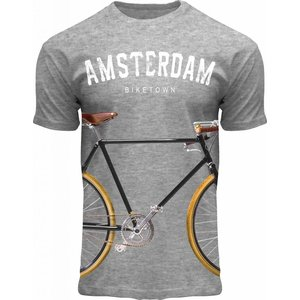 Holland fashion T-Shirt Holland - Gray - Amsterdam - Bicycle