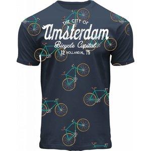 Holland fashion Kinder T-Shirt - Fiets - Blue