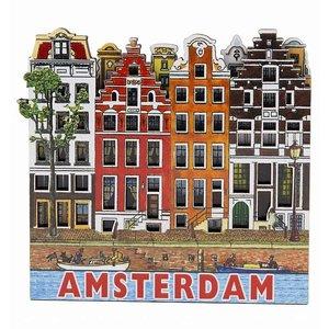 Typisch Hollands Magneet 4 huizen Amsterdam