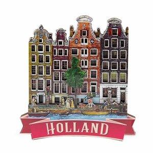 Typisch Hollands Magneet 4  tradtitionele huizen Holland
