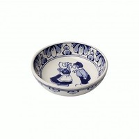 Typisch Hollands Delft blue bowl - Holland kiss pair 11.5 cm
