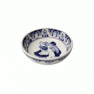 Heinen Delftware Delfts blauw schaaltje - Holland kuspaar-11.5cm
