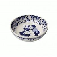 Typisch Hollands Delft blue bowl - Holland kiss couple-13.5 cm