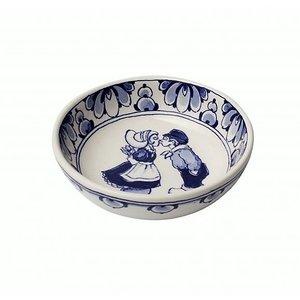 Heinen Delftware Delfts blauw schaaltje - Holland kuspaar-13.5cm