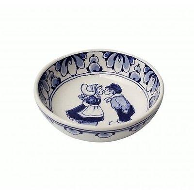 Typisch Hollands Delfter blaue Schüssel - holländisches Kusspaar-13,5 cm