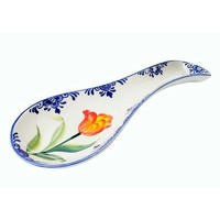 Typisch Hollands Spoonrest met oranje/groene tulp