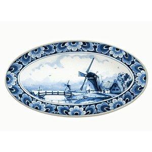 Heinen Delftware Delft blue bowl with mill decoration