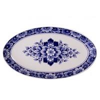 Typisch Hollands Blaue Delftschüssel mit Blumendekoration