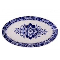 Typisch Hollands Delft blue bowl with flower decoration