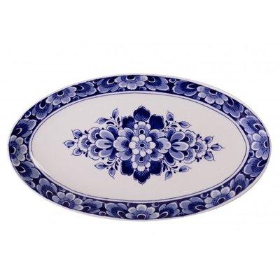 Typisch Hollands Delfts blauwe cadeau`s - Delfts blauwe schaal met bloemdecoratie