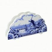 Typisch Hollands Delfts blauwe servettenhouder - molenlandschap