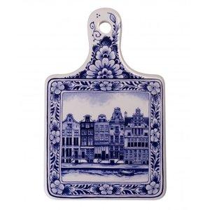 Heinen Delftware Kaasplank klein grachtenpanden - Delfts blauw
