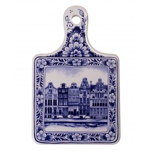 Typisch Hollands Cheese board small canal houses - Delft blue