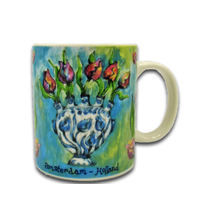 Typisch Hollands Vintage colors - Tulpen in vaas - Blue