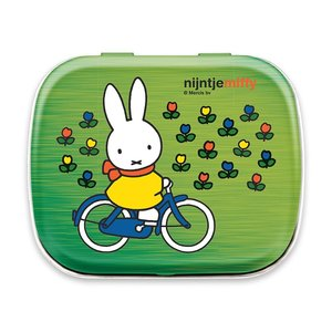 Nijntje (c) Miffy Souvenir - Mini Mint Dose - Miffy auf dem Fahrrad