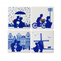 Typisch Hollands Luxury coasters - Pottery - Dutch kiss couple