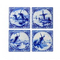 Typisch Hollands Luxury coasters - Pottery - Mills - Delft blue