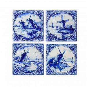 Typisch Hollands Luxury coasters - Pottery - Mills - Delft blue