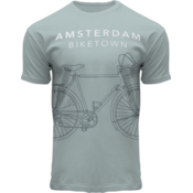 FOX Originals Amsterdam fashion | T-Shirt Amsterdam -Sea green - Bike Town