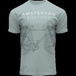 Holland fashion T-Shirt Amsterdam -Sea green - Bike Town
