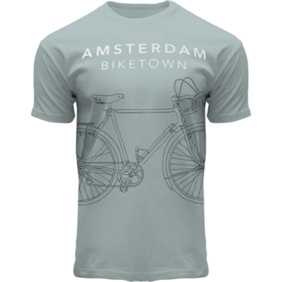 FOX Originals Amsterdamer Mode | T-Shirt Amsterdam - Sea Green - Bike Town