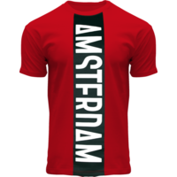 FOX Originals T-Shirt - Red-Black Amsterdam - Vertical Cut
