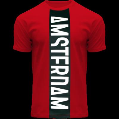 FOX Originals T-Shirt - Rot-Schwarzes Amsterdam - Vertical Cut