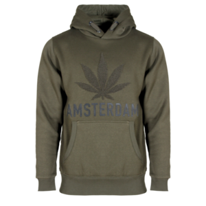 Holland fashion Amsterdam weed - Terry hooded sweater.