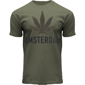 Holland fashion T-Shirt- Army green - Terry - Amsterdam