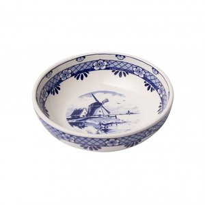Typisch Hollands Tapas dish - Delftware - Mill - medium