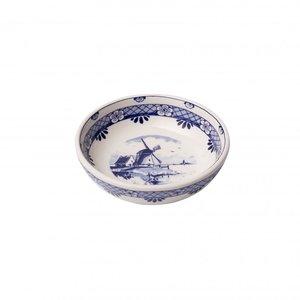 Heinen Delftware Tapas dish - Delft blue - Windmill small